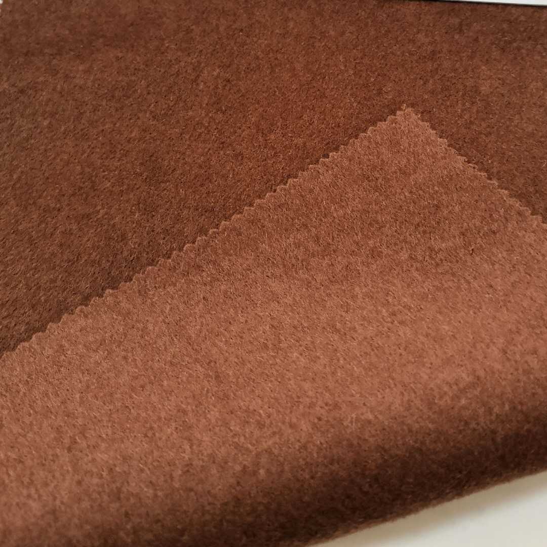 Бордовая двухсторонняя шерсть полиэстер Смешанная простая ткань для одежды