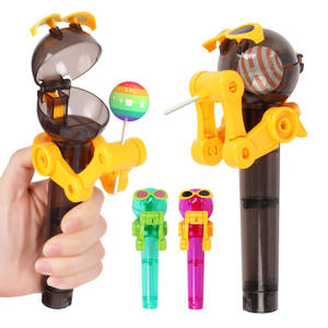 Hot Personality Decompression Candy Dustproof Toys Cool  Robot Lollipop Holder for Kids Friends Gift