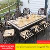 21-6 стул 2 вращающееся кресло 1 керамическая плитка стол 185 см