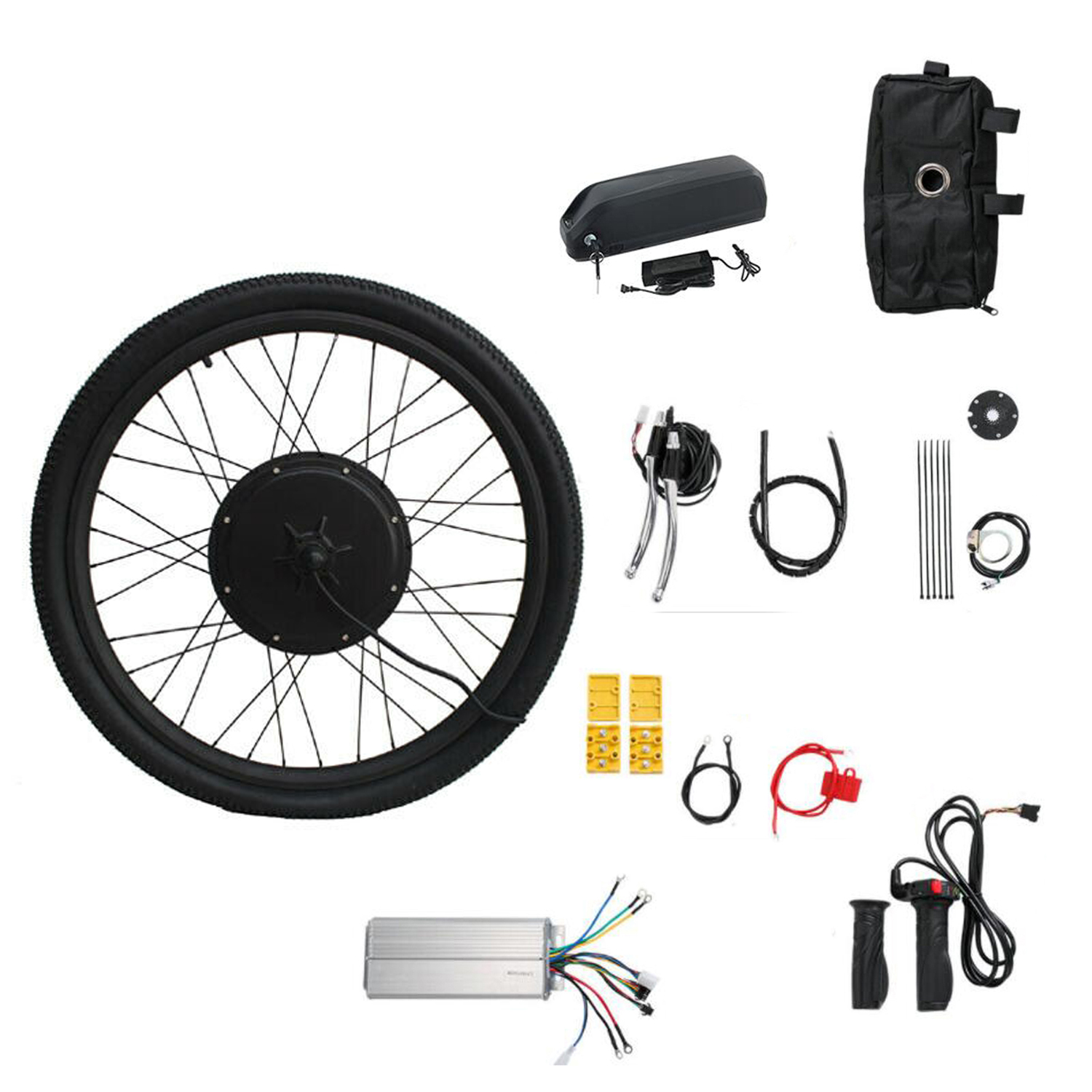 Ebike Conversion Kit Electric Bicycle MTB Wheel 36V 250W 350W 500W With Battery