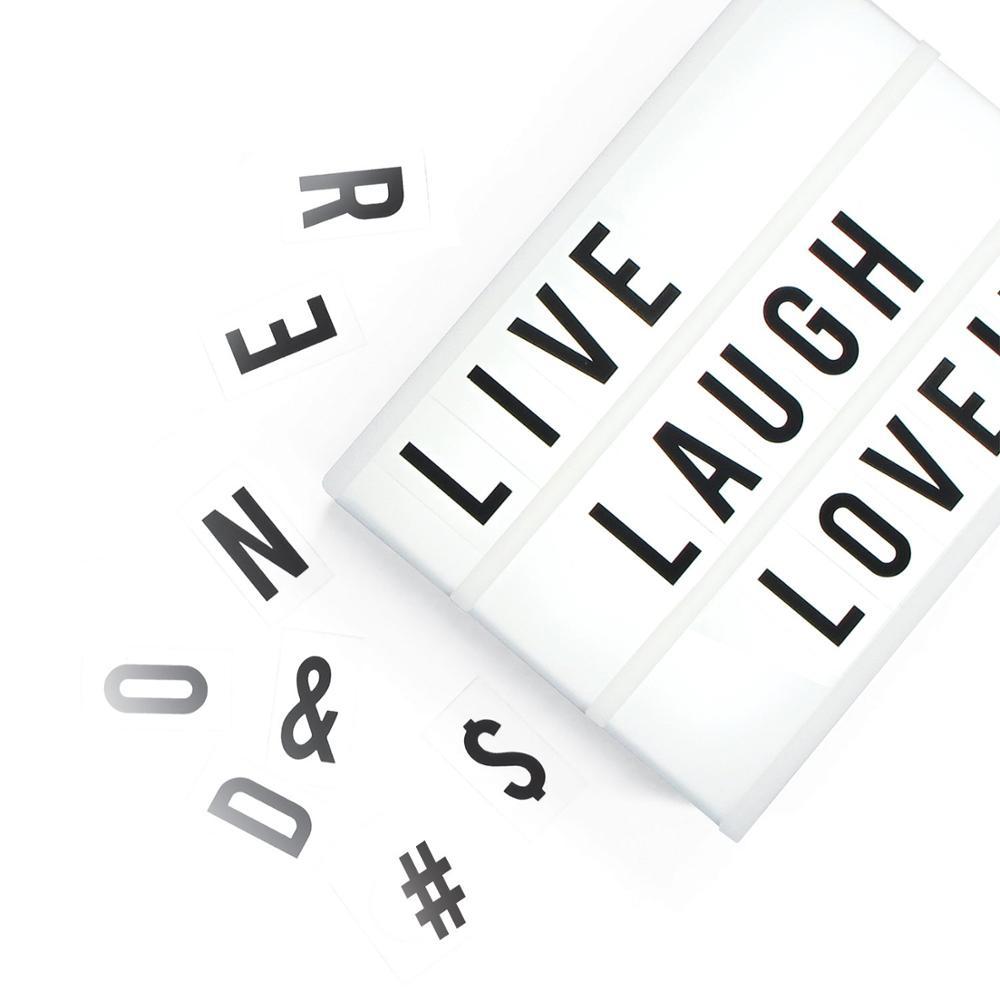 Светодиодный Лайтбокс для кинотеатра A6 на батарейках с магнитными буквами и символами улыбки