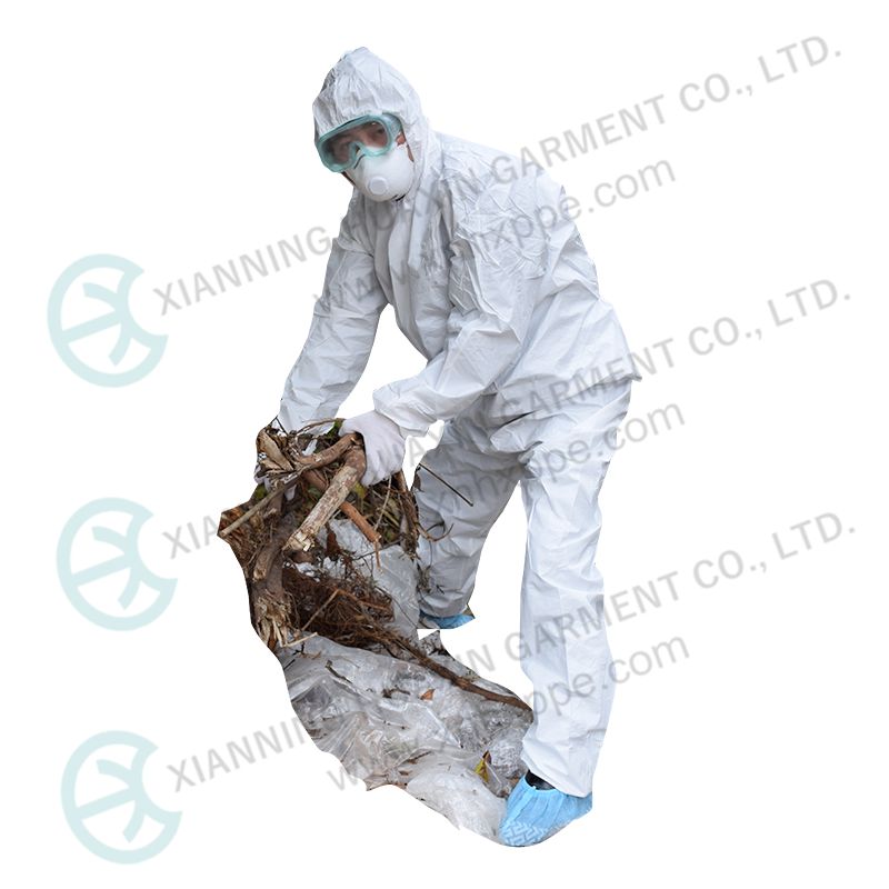 Asbestos Removing Type 5 6 Disposable Protection Microporous Coverall - KingCare | KingCare.net