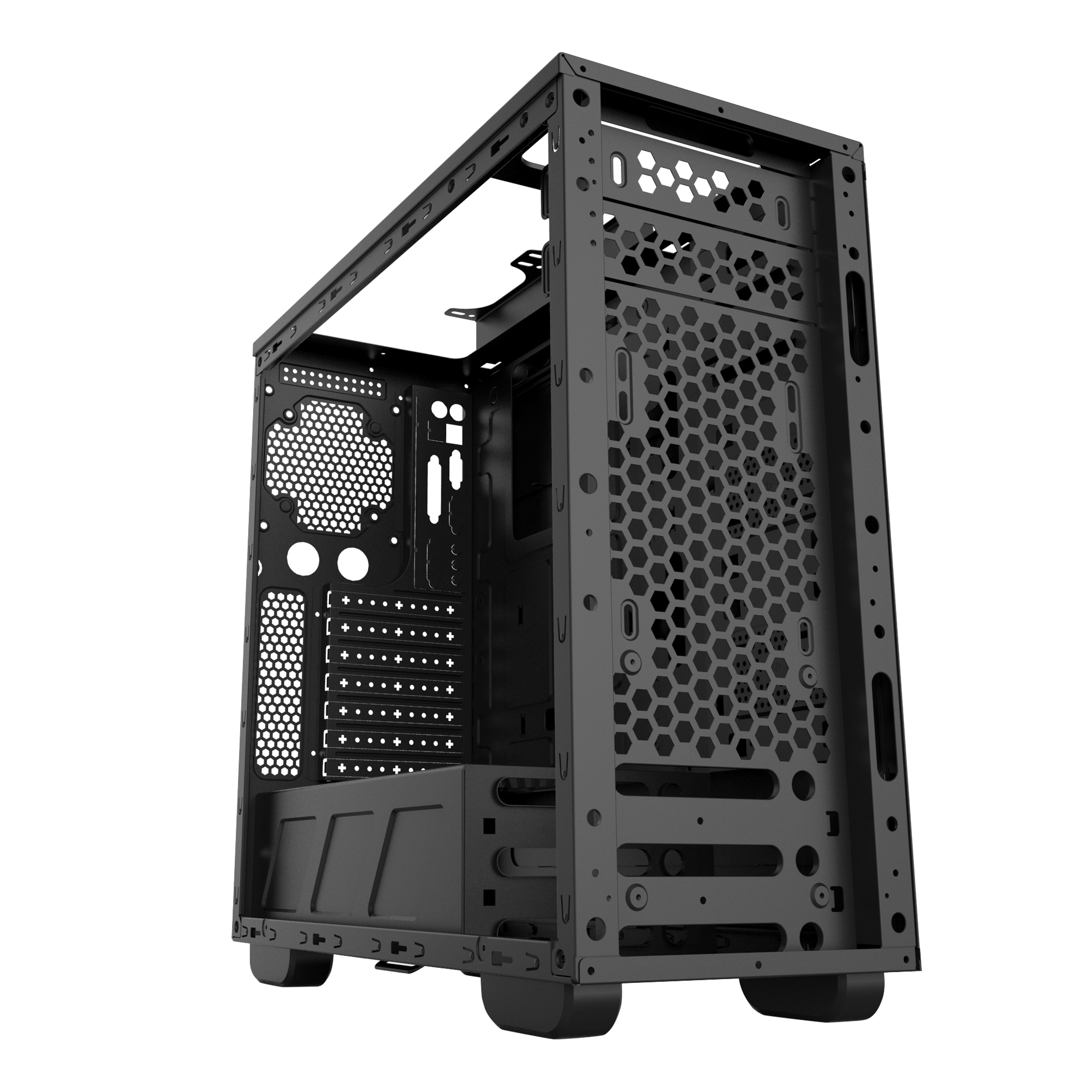 17 years factory! RGB Gaming case,  0.5mm material, tempered glass side panel,metal structure size: L450XW195XH435MM SX-C6910