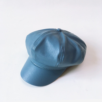 В стиле детский берет кожаные шапки берет модные зимние детские шапки и кепки