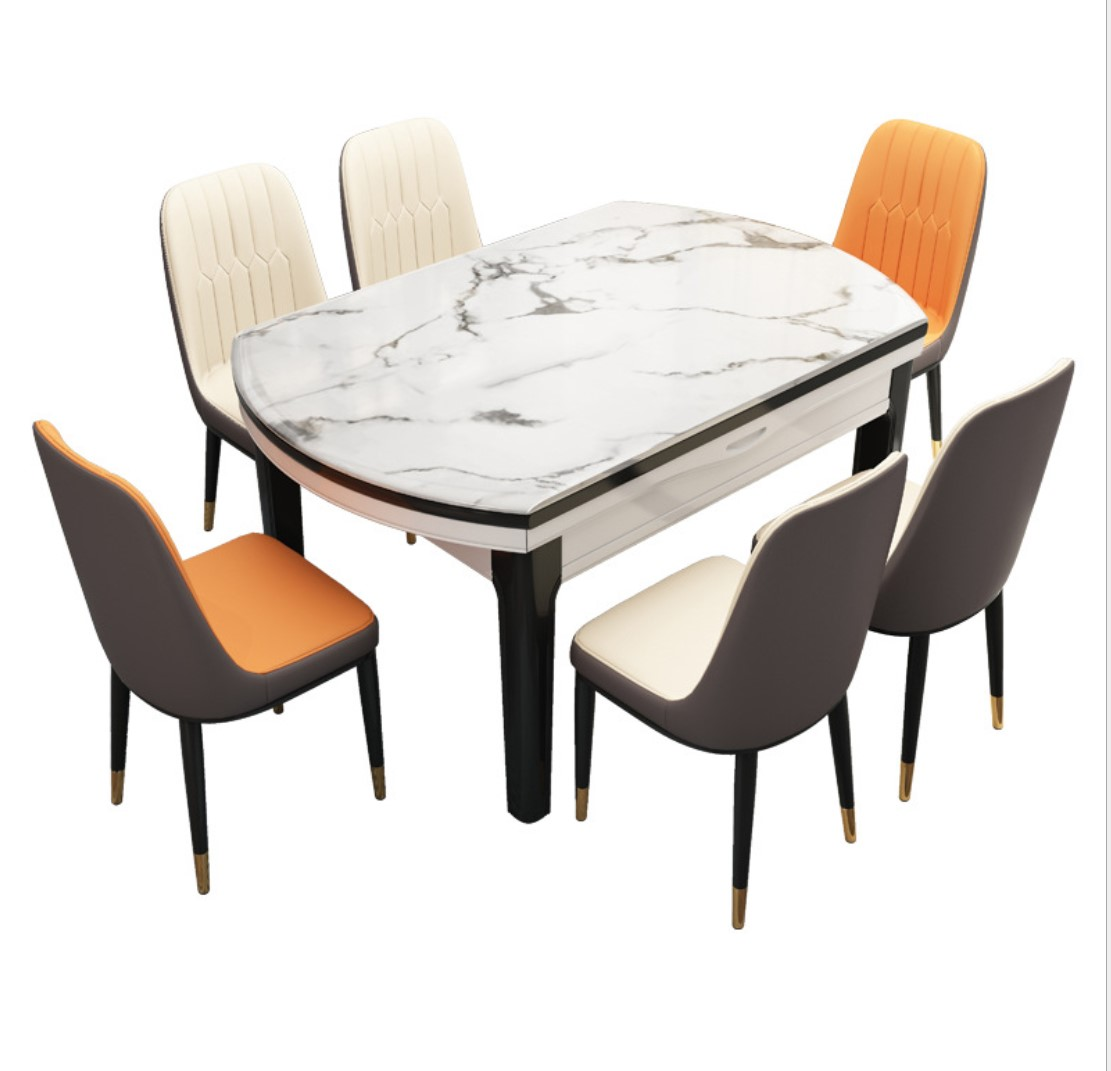 Marble Dining Table Marble Top Dining Table Set Simple Gold Legs ...