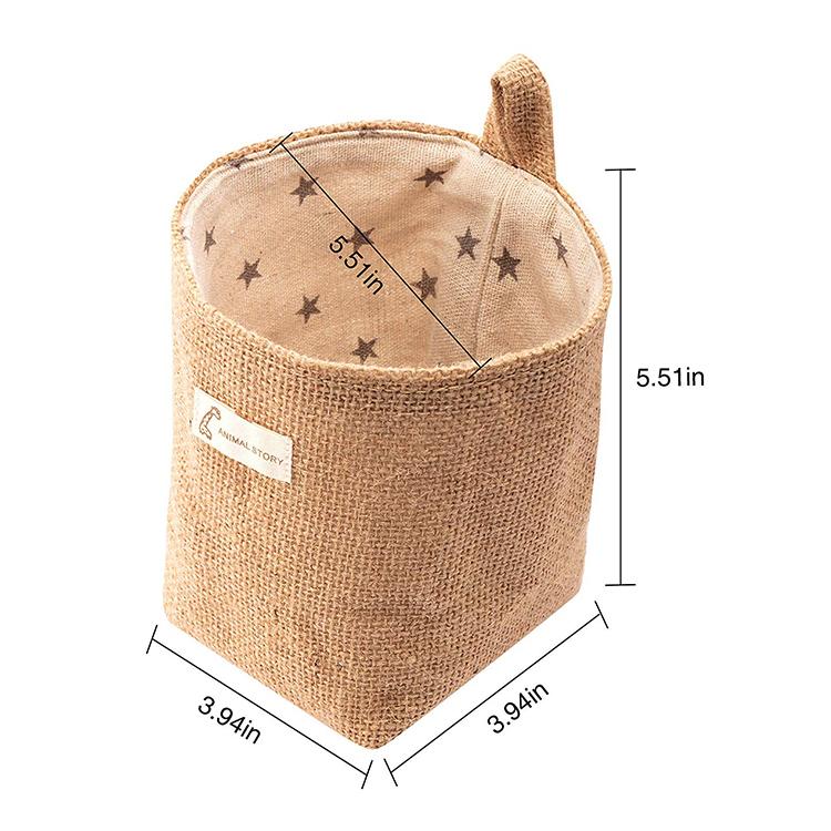 Новый дизайн, джутовый Органайзер с логотипом на заказ, корзина с хлопковой подкладкой