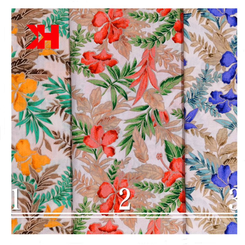 cute digital print cotton flower poplin fabrics  for baby