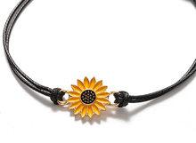 NPKDS Подсолнух черный браслет, Пара регулируемых браслетов любви и дружбы браслет он и ее подарок(Китай)