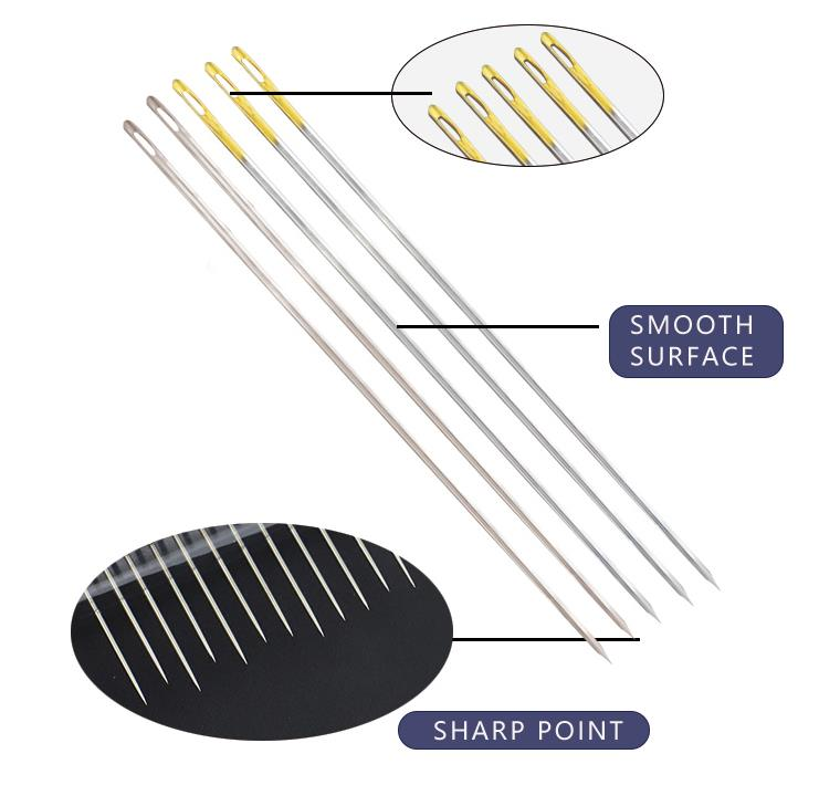 Four kinds of hand sewing needles,SHARP STRAW BETWEENS DOUBLE SWALLOW.packing method paper package,aluminum plastic insert card