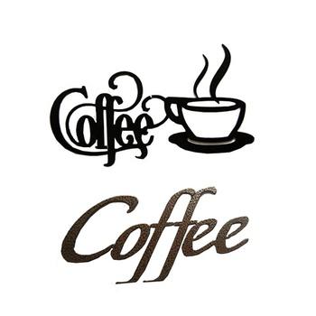 dekorasi dalam ruangan logo kedai kopi besi hitam seni