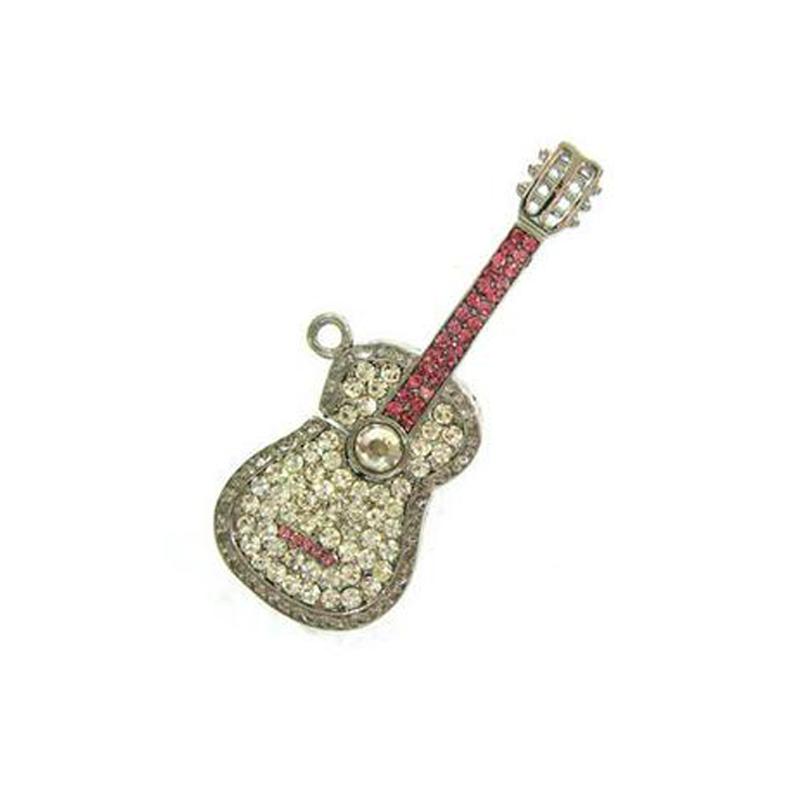 4GB Guitar USB Flash Pen Drive Necklace Jewelry USB Free Shipping USB Flash - USBSKY   USBSKY.NET