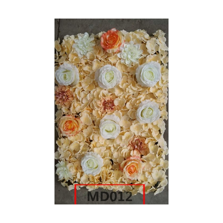 Professional Supplier High Quality Custom Artificial Rose Wedding Decoration Background Flower Wedding Flowers Wall