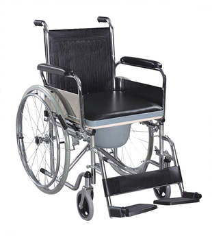 Foldable Bedside Commode Wheel Chair With Wheels Toilet