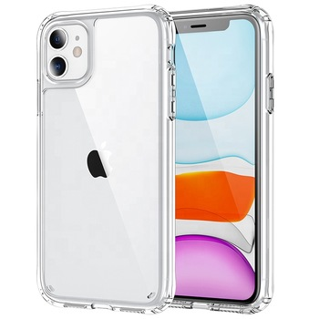 Best Seller Hybrid TPU Acrylic Clear Hard Back Cover Phone Case for iPhone 6 7 8 Xs Transparent Case for iPhone 11 12