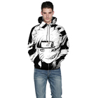 New Style Wholesale Comfortable hoodie 100% polyester plain black hoodie custom oversized hoodie for Male