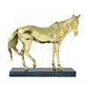 lack marble brass horse ornaments