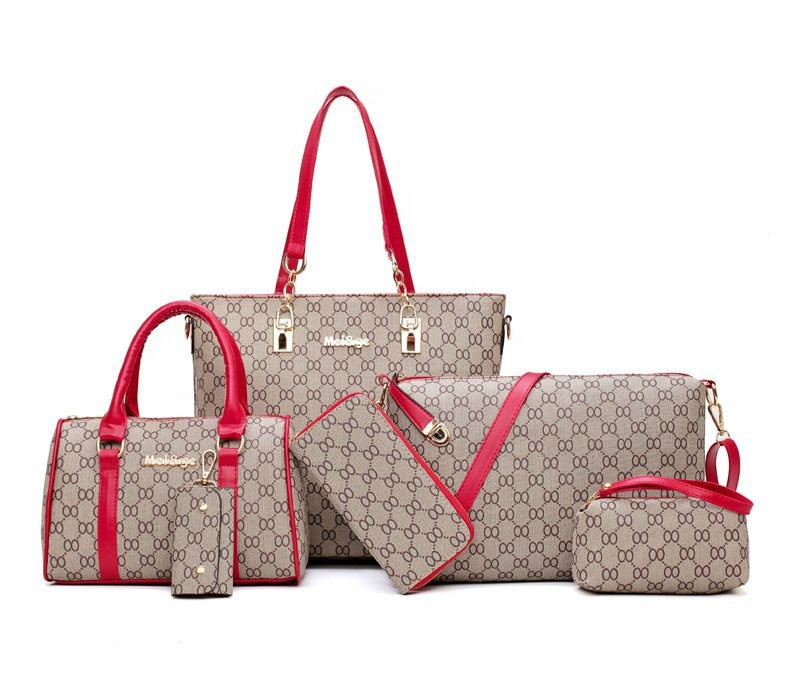 Wholesale Fashion Designer 5 Piece Set Women Bags Custom Brand Ladies Bags Handbag Set for Women