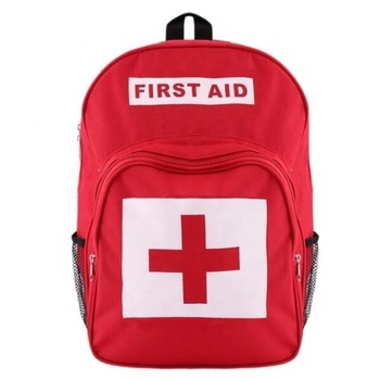 Red Cross Backpack First Aid Kit backpack bag promotional medical bag rescue backpack emergency care organizer