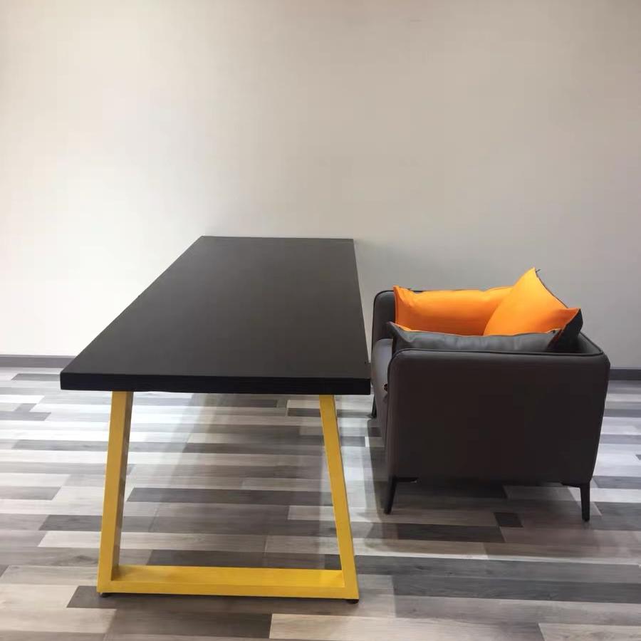 Modern design dining room furniture white matt MDF wooden dining table