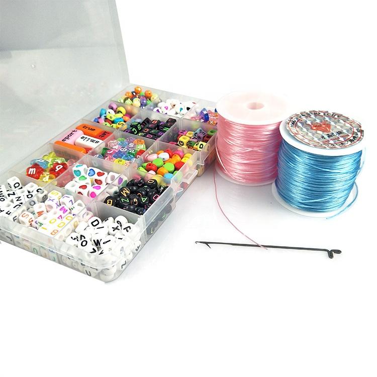 Набор из акриловых бусин для изготовления браслетов, ожерелий и браслетов своими руками