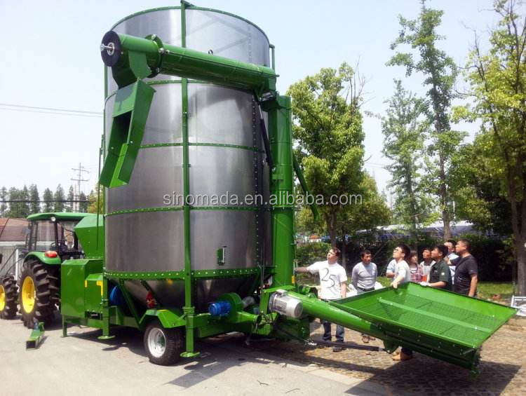 ZOOMLION Hot Sales High Capacity Wheat / Rice / Corn Paddy Dryer Machine Move-Able Grain Dryer