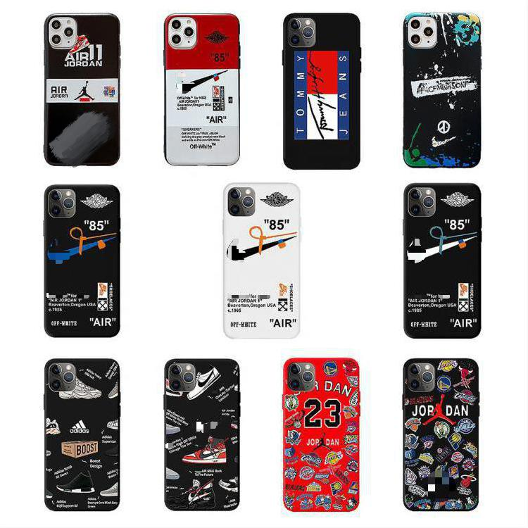 Fashion Silicone 12 Case Cover 2021 TPU Matte Luxury Phone Cases for iPhone 11 Xr Xs 7 8 13 12 Pro Max Jordan Phone Case