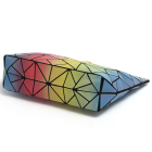 Bag Clutch 2020 Fashion 3D Rainbow Geometric Shoulder Bag Lattice Hologram Bao Handbag Party Clutch Female Purse For Ladies