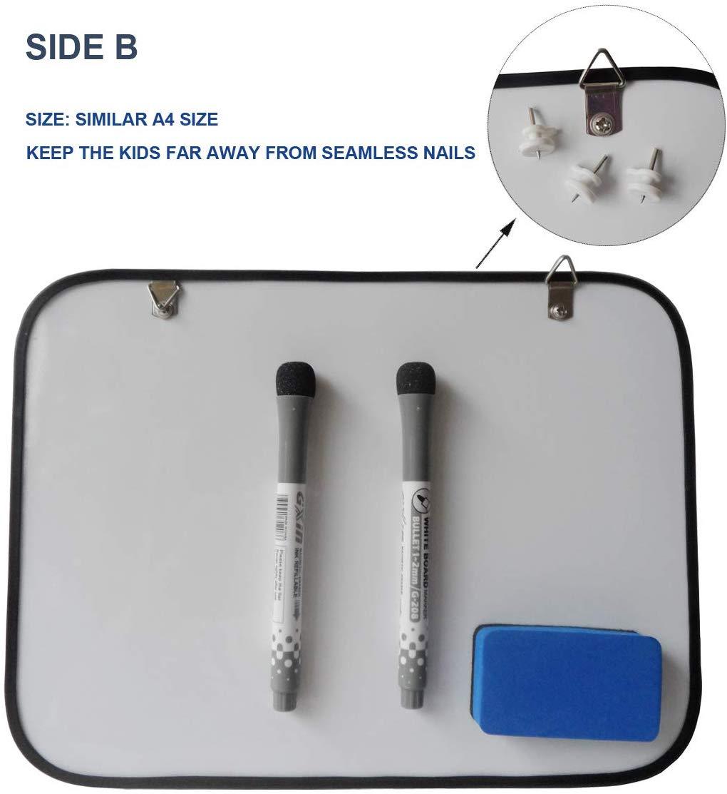 Двусторонняя магнитная доска для сухого стирания и маленькая белая доска для рисования a4 a3