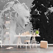 Столярные Пользовательские Черно-белые молочные любовники фото обои для стены 3D гостиной спальни магазин Бар Кафе стены фрески рулон(Китай)