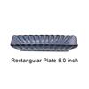 Blue Rectangular Plate-8.0 inch