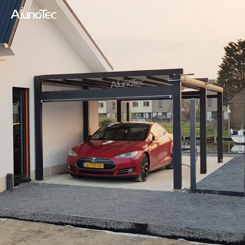 Outdoor Opening Gazebo Automatic PVC Pergola Systems Metal Garage Patio Awning Retractable Roof