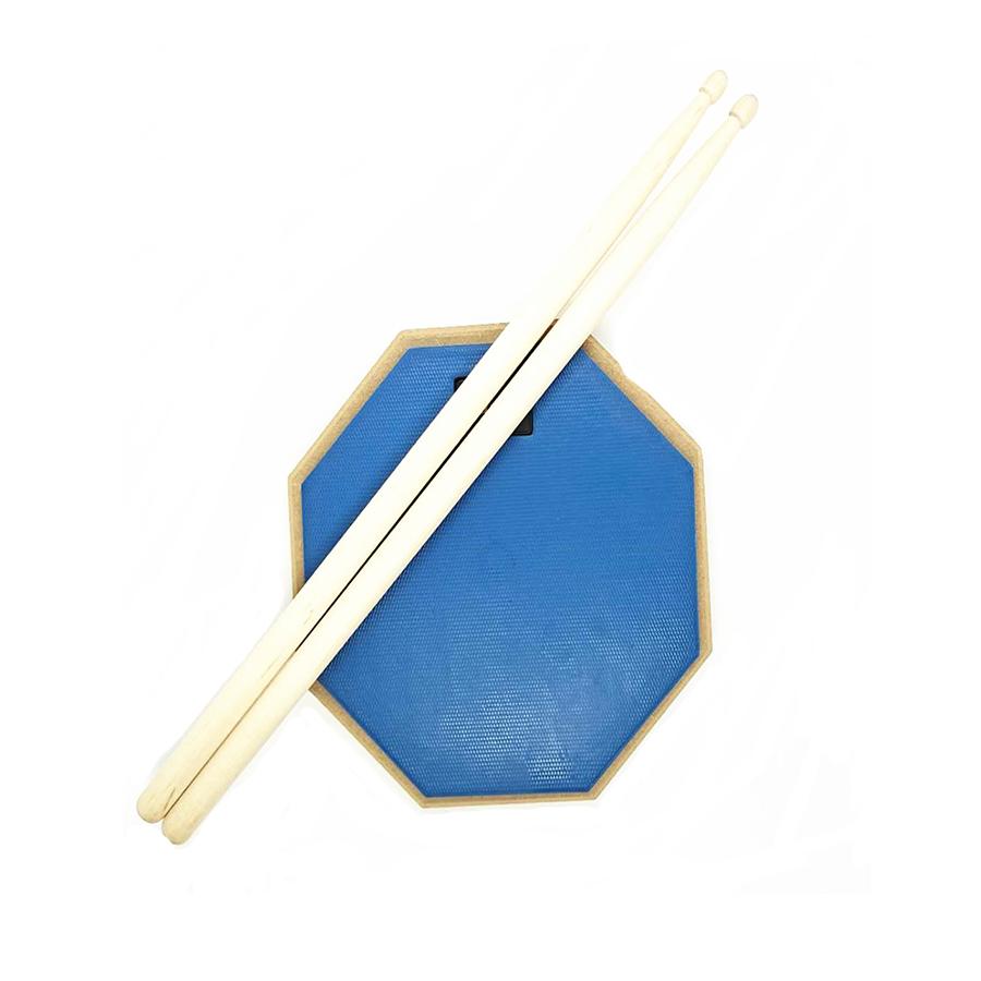 Разноцветный Резиновый барабан для тренировок с подставками 8 дюймов