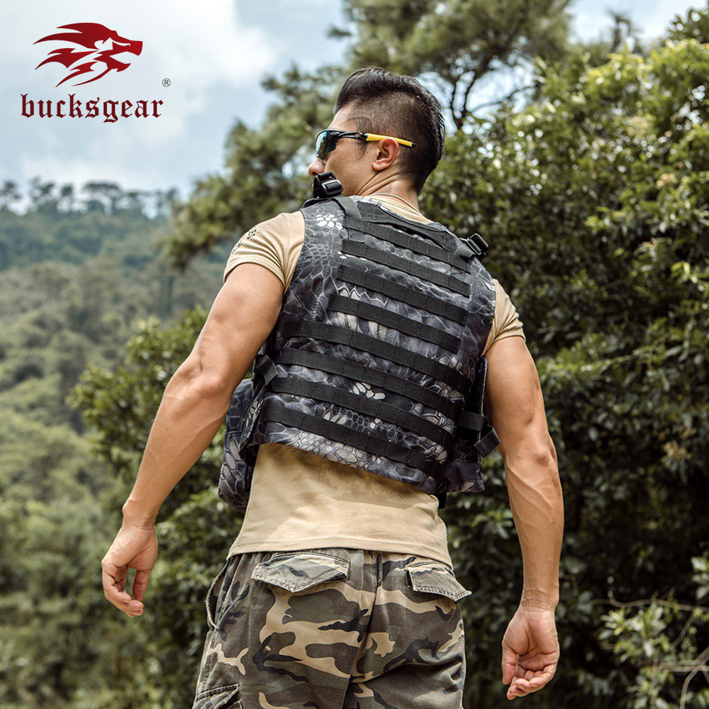 Bucksgear Comfortable new Classical army combat  tactical stab proof vest war game paintball vest military tactical combat vest