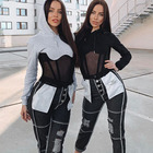 Ladies Hoodie Womens Hoodie Manufacturers Hot Selling OEM Custom Terry Women Sexy Ladies Sexy Mesh Patchwork See-through Zipper Sweater Hoodie