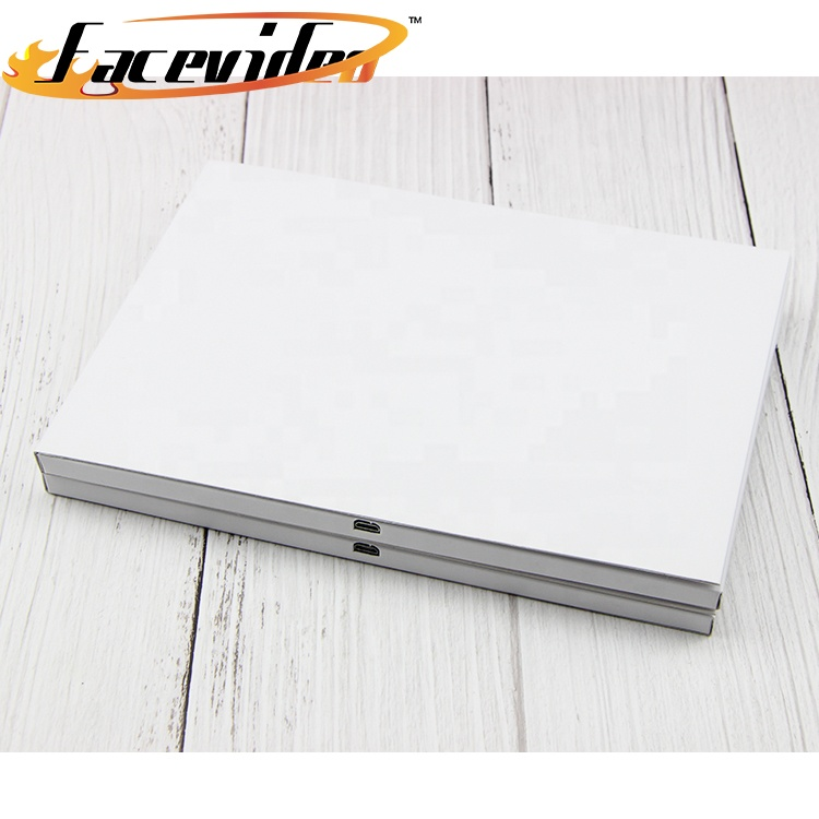 promotional 7 inch lcd display pop up video book blank digital gift card for marketing advertising business wedding