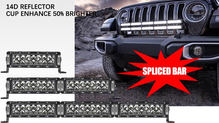"High Power Super Bright IP69K 600M 4x4 60""10""20"" 30"" 40"" 50""inch led light bar,500w Modular Offroad Car Off Road Led Light Bar"