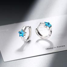 Корейские МИНИ-серьги-кольца, маленькие круглые стразы, круглые серьги-кольца для кошек, лапы уши, серьги Huggie, 2020(Китай)