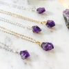 Amethyst-Point s925 gold chain