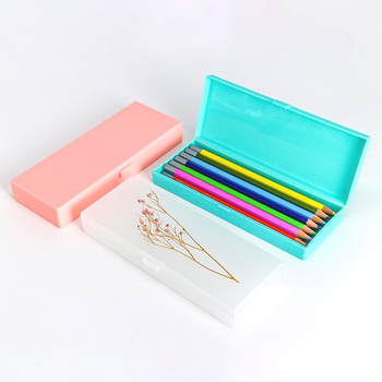 Packaging Plastic Fountain Water Color Writing Ball Pen Container Ballpoint Pen Stationery Box Storage Crayon Pencil Case