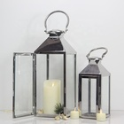 Candle Lantern Candle Large Lanterns Wedding Silver Large Outdoor Garden Glass Metal Candle Stainless Steel Lantern