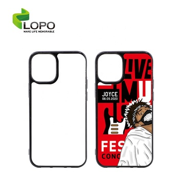 New Model 2D Flexi TPU Soft Rubber Sublimation Phone Case with PET Insert for Iphone 12