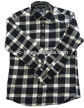 Mens cotton black and white checked plaid lumberjack flannel shirt night suits