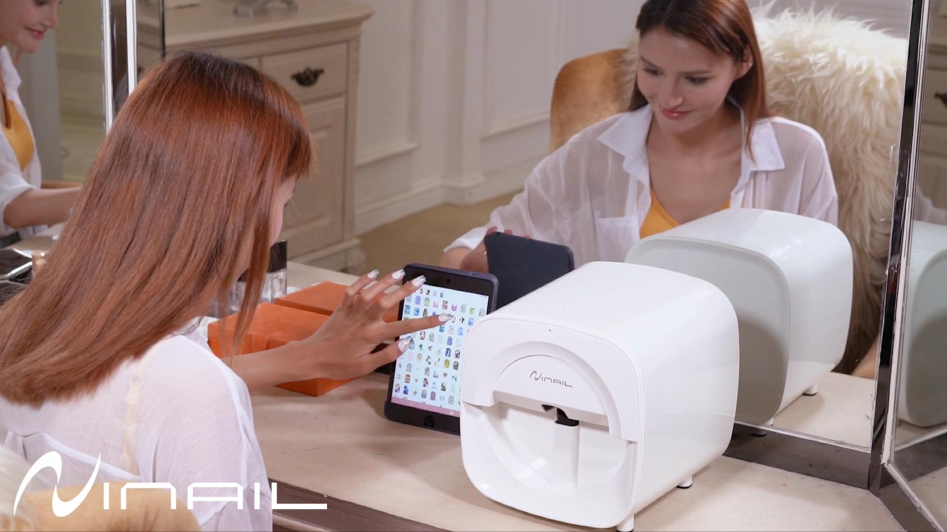 Factory Wholesale Cheap Portable Small  3D Wifi Mobile Finger Nail Printer, Digital Mobile Nail Art Printer Machine