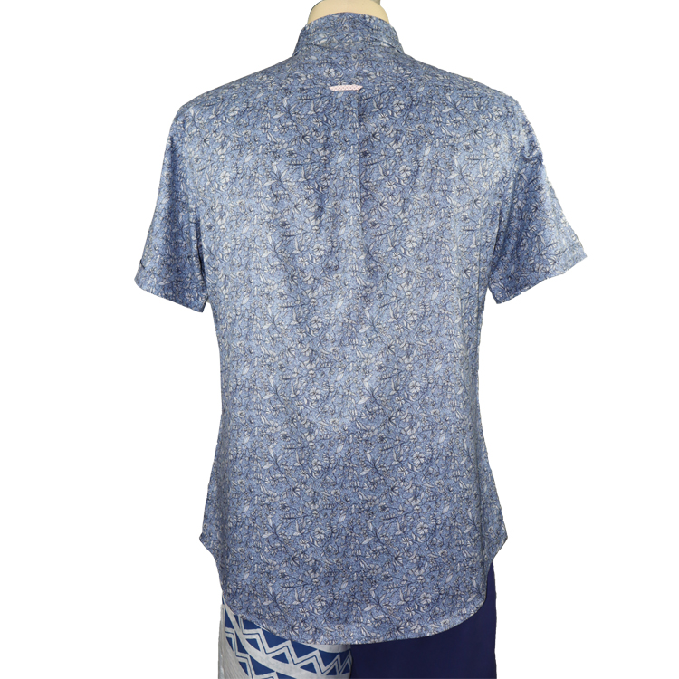 ST210615 OEM Mens Luxury Beach Shirts Custom Hawaii Style New Fashion Man Print Floral Shirt