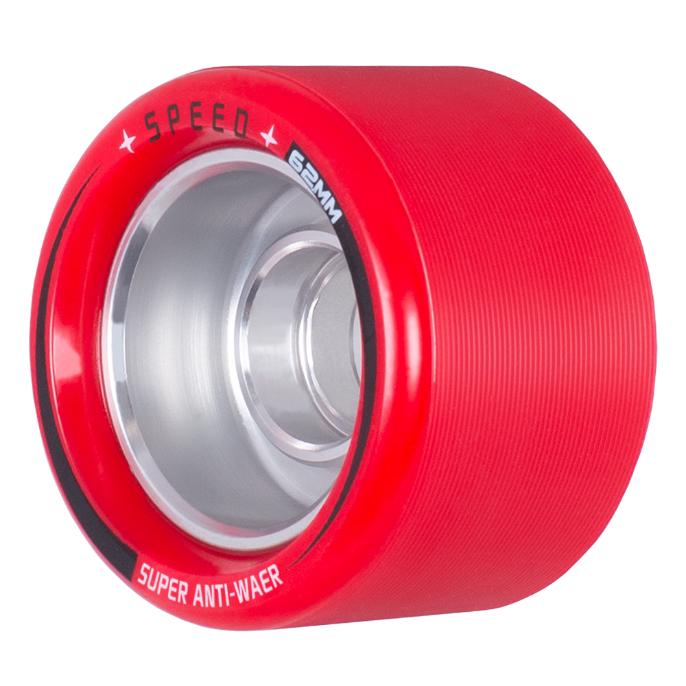 High Quality Aluminum Hub 43*62MM Roller Skate Wheel For Speed Derby Super Anti-Wear Wheels