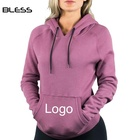 Womens Workout 95% Cotton 5% Spandex Performance Hoodie Women Fleece Gym Hoodie