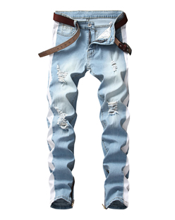 4 Colors Men Denim Jacket Fashion Hooded Long Sleeve Jackets with Holes Panelled Designer Jean Jacket
