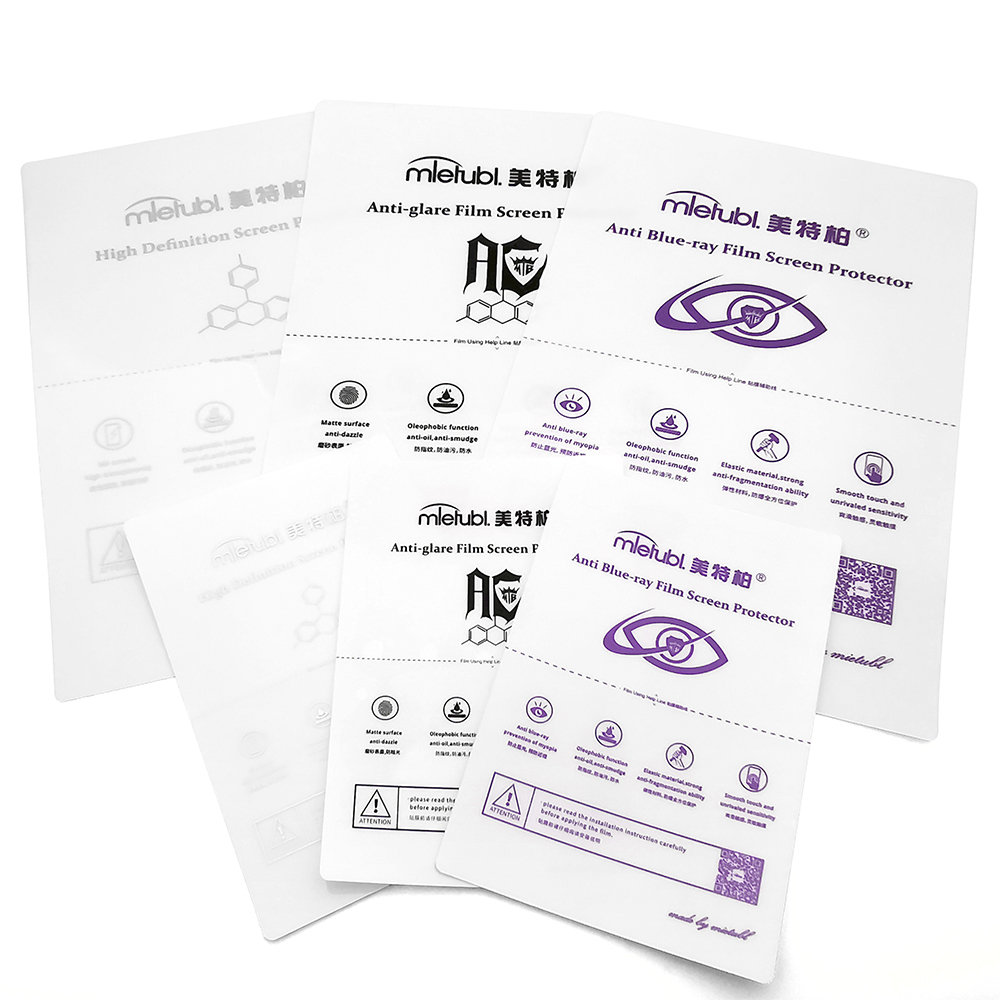 18x12cm Front and Back TPU Material Nano Hydrogel Film Used for TPU Cutting Machine