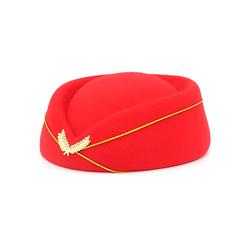 High quality airline stewardess career Hostess Uniform hat round top air hostess hat
