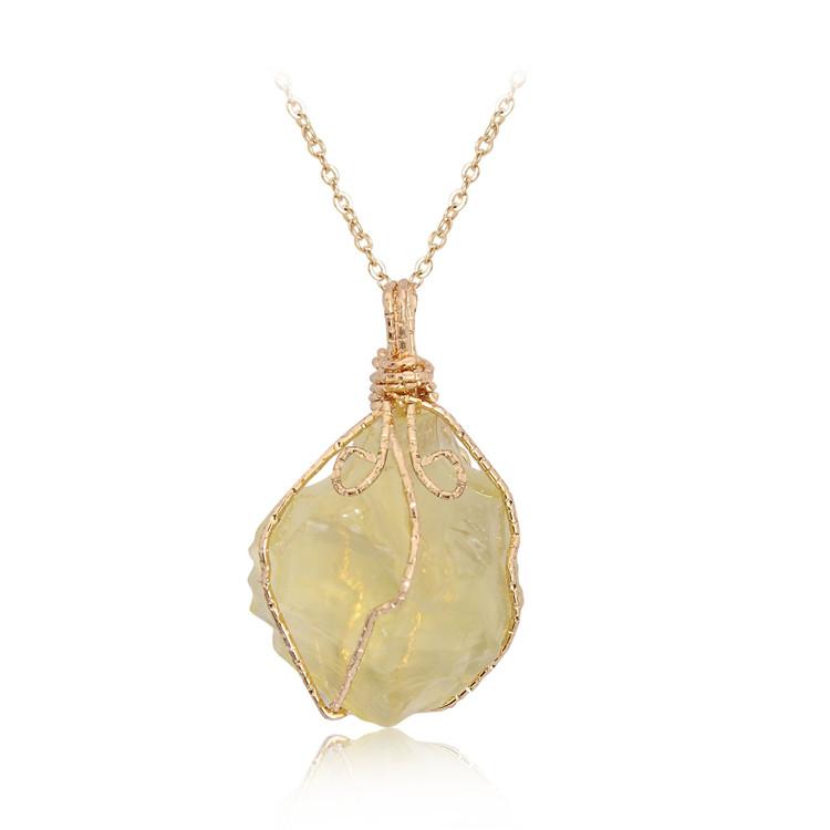 Jewelry Accessory Spiritual Crystal Quartz Stone Irregular Electroplating Aura Purple Pendant for healing